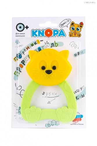 Прорезыватель KNOPA 80055 Кошечка, желто-зеленая - Knopa