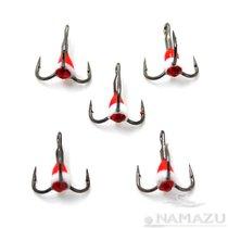 Крючок тройник Namazu светофор с каплей и камнем № 12, RW (5 шт.) N-HTL12RW - Namazu