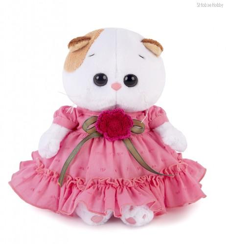 Мягкая игрушка Ли-Ли BABY в платье с вязаным цветочком - Буди Баса