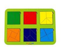 Рамка-вкладыш WOODLANDTOYS 064304 Сложи квадрат, 6 квадратов, ур.4 - WOODLAND