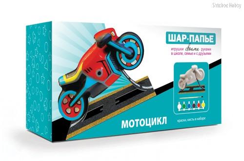 Набор для творчества ШАР-ПАПЬЕ В021073 Мотоцикл - Шар-Папье