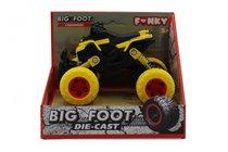 Машина пластиковая FUNKY TOYS FT61070 Квадроцикл die-cast, инерционный, желтый, 1:46 - Funky Toys