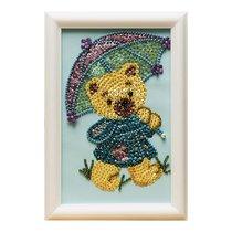 Мозаика из пайеток ВОЛШЕБНАЯ МАСТЕРСКАЯ М024 Мишка с зонтиком - Волшебная Мастерская