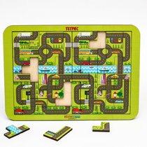 Логическая игра WOODLANDTOYS 65104 Тетрис большой Карта города - WOODLAND