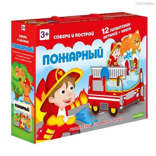 Пазл ГЕОДОМ 3958 Пожарный 3D + книга - Геодом