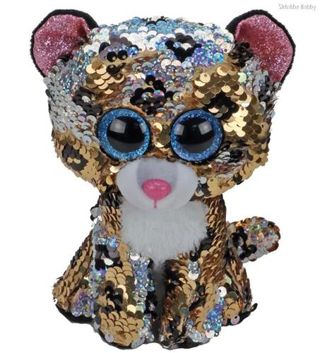 Мягкая игрушка TY 36345 леопард с пайетками 15 см - TY