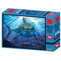 Стерео пазл Большая белая акула - Prime 3d