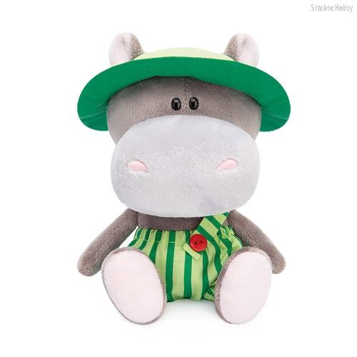 Мягкая игрушка BUDI BASA SA15-10 Бегемотик Бапото в комбинезоне и панамке - Буди Баса
