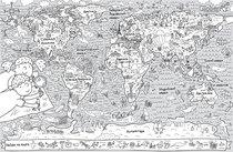 Раскраска-плакат GLOBEN PA071 Карта мира 120х80см - Globen