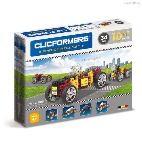 Конструктор Speed Wheel set 34 детали - Clicformers