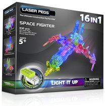 Светодиодный конструктор Космический истребитель 16 в 1 - Laser Pegs