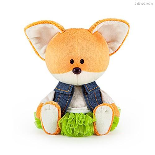 Мягкая игрушка BUDI BASA LE15-062 Лисичка Лика в юбке и безрукавке - Буди Баса