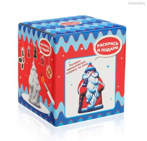 Фигурка РАСКРАСЬ И ПОДАРИ IG-1020 для раскрашивания Дед Мороз - Раскрась и подари