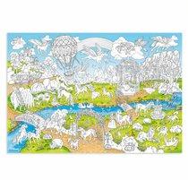 Раскраска-плакат ГЕОДОМ 6485 Единороги, большая - Геодом