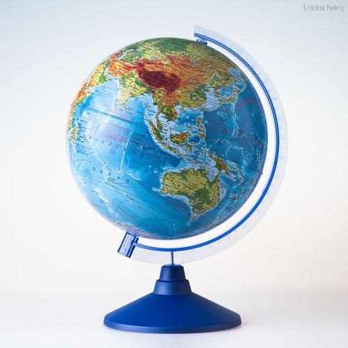Глобус GLOBEN Ве012500257 Физико-политический (батарейки) 250 - Globen