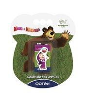 """Элементы питания ФОТОН 22857 6LR61 ВP1 ,""""Маша и медведь"""" + наклейка - Фотон"""