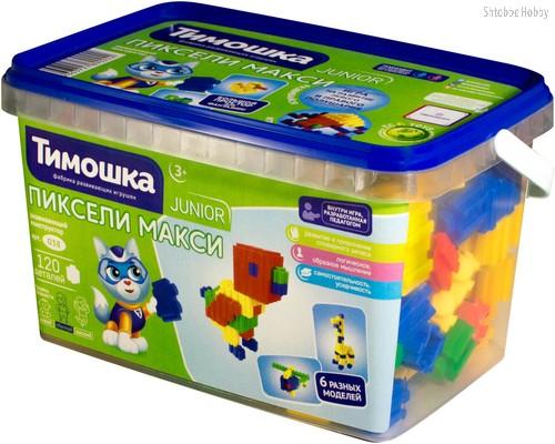 Конструктор ТИМОШКА 38 Пиксели макси 120 деталей - Тимошка