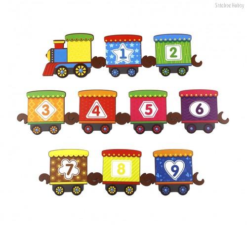 Обучающий набор WOODLANDTOYS 145108 Поезд с цифрами - WOODLAND
