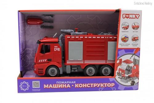 Машина пластиковая FUNKY TOYS FT61115 пожарная (конструктор) 1:12 - Funky Toys