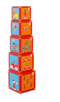 Кубики SCRATCH 6181050 Stacking Tower Сircus - Scratch