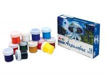 Краски акриловые ARTI К000172 набор 12 цветов 120 мл. - Arti