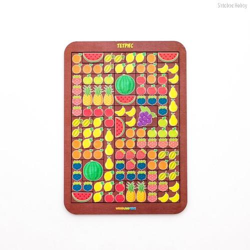 Логическая игра WOODLANDTOYS 65111 Тетрис большой Фрукты/ягоды - WOODLAND