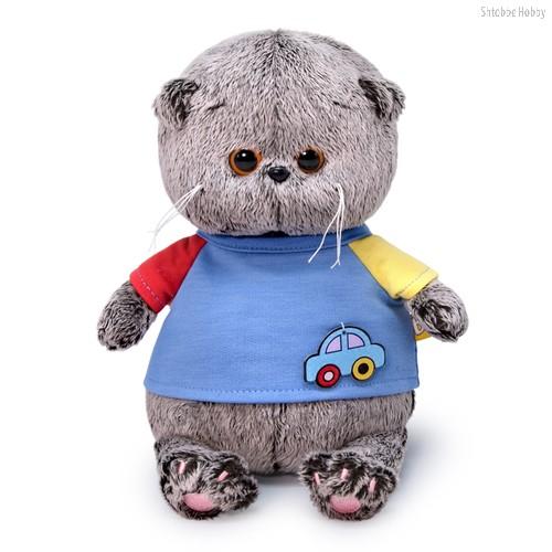Мягкая игрушка BUDI BASA BB-064 Басик BABY в футболке с машинкой 20 см - Буди Баса