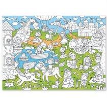 Раскраска-плакат ГЕОДОМ 5709 Принцессы, для малышей - Геодом