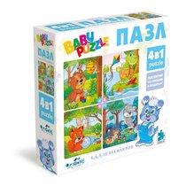 Пазл ORIGAMI 04893 для малышей 4 в 1, голубой - Origami