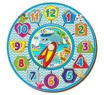 Обучающий набор WOODLANDTOYS 094202 Часы, голубые - WOODLAND