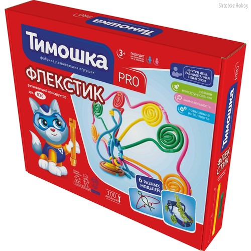 Конструктор ТИМОШКА 26 Флекстик 100 деталей - Тимошка