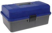 Ящик рыболова Helios двухполочный синий - Тонар