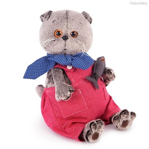 Мягкая игрушка BUDI BASA Ks30-066 Басик в красном комбинезоне 30см - Буди Баса