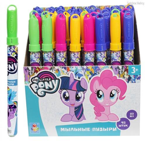 Мыльные пузыри 1TOY Т59626 My Little Pony 60 мл колба - 1Toy