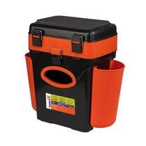 Ящик для зимней рыбалки Helios FishBox двухсекционный 10л оранжевый - Тонар
