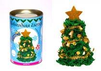 Набор для творчества ВОЛШЕБНАЯ МАСТЕРСКАЯ ШФ-05 Новогодняя ёлочка с украшениями - Волшебная Мастерская
