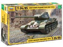 """Сборная модель ZVEZDA 3687 Советский средний танк """"Т-34/85"""" - Zvezda"""