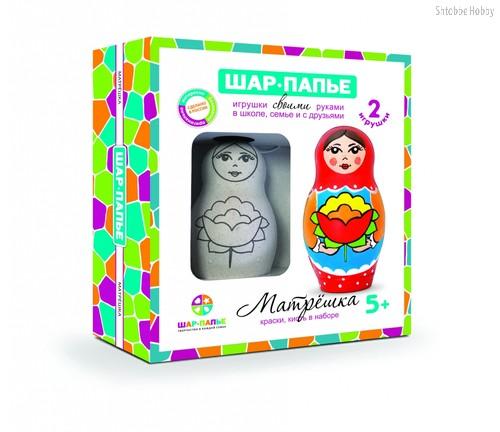 Набор для творчества ШАР-ПАПЬЕ В40923 Матрешка - Шар-Папье