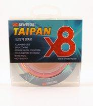 Леска плетеная Siweida Taipan Elite PE Braid X8 135м 0,25мм (15,91кг) мультиколор - Siweida