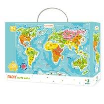 Пазл DODO R100110 Карта мира - Dodo