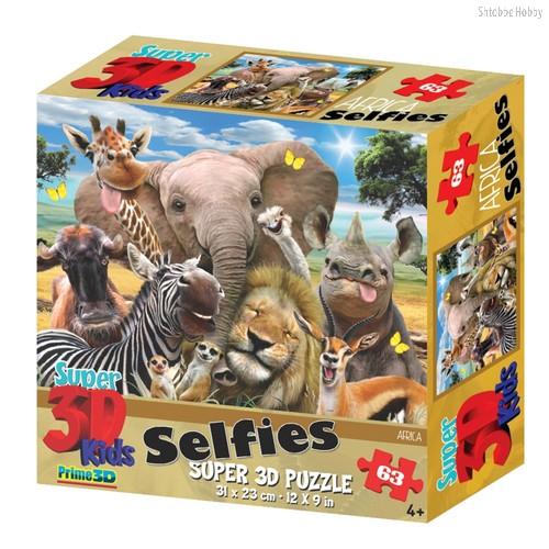 Стерео пазл Африка селфи - Prime 3d