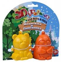 Формочка 16011 3D Медвежка и Пингвинка №1 - БИПЛАНТ