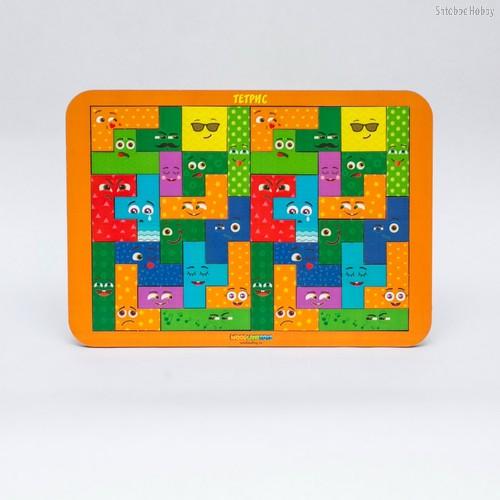 Логическая игра WOODLANDTOYS 65110 Тетрис большой Смайлики - WOODLAND