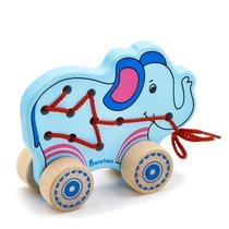 Каталка Шнуровка Слонёнок - Alatoys