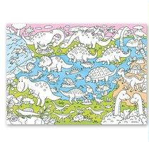 Раскраска-плакат ГЕОДОМ 5716 Динозавры, для малышей - Геодом