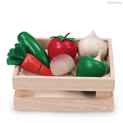 Игровой набор Овощи и грибы для нарезки в ящике - Wonderworld