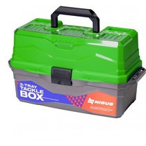 Ящик для снастей Nisus Tackle Box трехполочный зеленый N-TB-3-G - Тонар