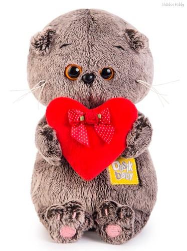 Басик Baby с красным сердечком, цвет серый - Буди Баса