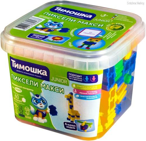 Конструктор ТИМОШКА М005 Пиксели макси 60 деталей - Тимошка