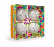 Набор для творчества ШАР-ПАПЬЕ В0270Т Елочные игрушки (4 шара) - Шар-Папье